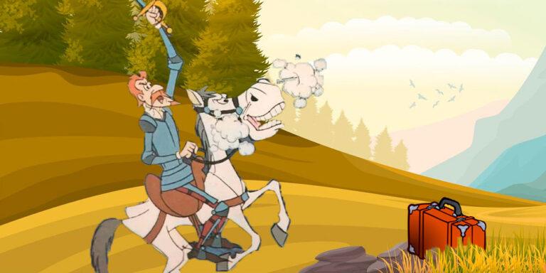 El capítulo de Don Quijote en Sierra Morena para niños